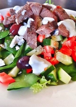 Spring Lamb Greek Salad