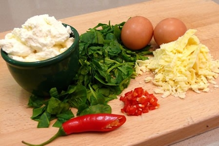 Spinach and Ricotta Pie Ingredients